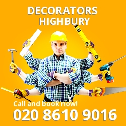 Highbury painting decorating services N5