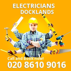 E14 electrician Docklands