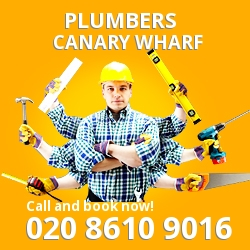 E14 plumbing services Canary Wharf